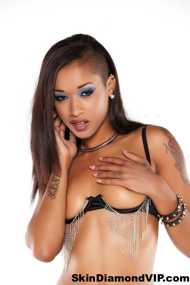 Skin Diamond tattooed small tits pierced topless Ethiopian